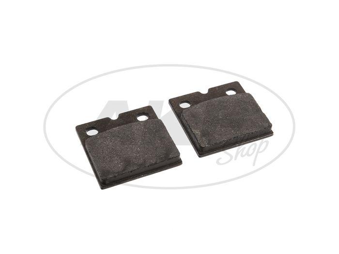 Brake pad f. Disc Brake (Pair) - for MZ ETZ125, ETZ150, ETZ250, ETZ251, ETZ301 - Image #1