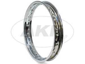 "Item Image Rim 1.85 x 16 ""chromed steel rim"