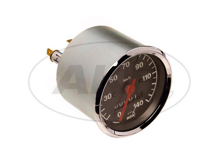 Tachometer up to 140 km / h, Ø80mm, control lights BLUE + GREEN - MZ ETZ - Image #1