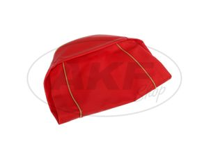 Item Image Seat cover smooth, red, old shape - for MZ ES125, ES150