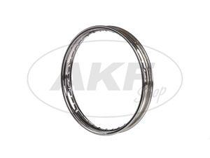 "Item Image Rim 1.6 x 16 ""chromed steel rim - Simson S50, S51, KR51 Schwalbe, SR4"