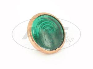 Artikelbild Kontrollglas, Grün, Kupfer-Fassung, Ø16mm - für Simson AWO