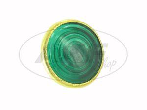 Artikelbild Kontrollglas, Grün, Messing-Fassung, Ø16mm - für Simson AWO