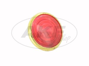 Item Image Control glass, red, brass socket, Ø16mm - for Simson AWO
