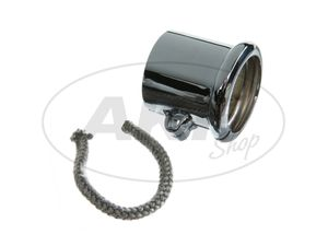 Item Image Clamp with bead for exhaust, Ø = 40mm, chrome-plated for BK350