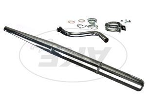 Item Image Set: exhaust, chrome, complete with manifolds and attachments - Simson S50, S51, S70, S53, S83