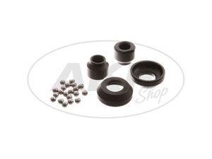 Item Image Set of wheel bearings ø 12mm - incl. 2x bearing bracket, 2x cone, 20x ball - OPTIMA hub - SR1, SR2, SR2E, KR50