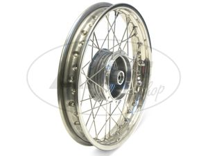 "Item Image Spoked wheel 1.85 x 16 ""rear, stainless steel rim + stainless steel spokes - Simson S51, S70, S53, S83"