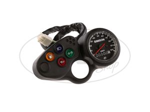 Item Image Instrument block with tachometer and control lights, wiring harness