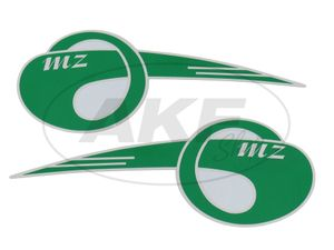 "Item Image Set: 2x lettering (foil) ""MZ"" arched, large"