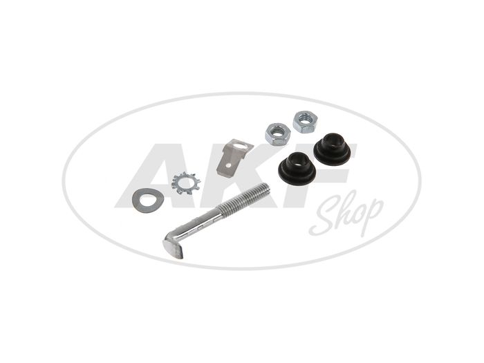 Set: Fixing parts for brake light contact screw - for Simson S50, S51, S70, KR51 Schwalbe, SR4 - Image #1