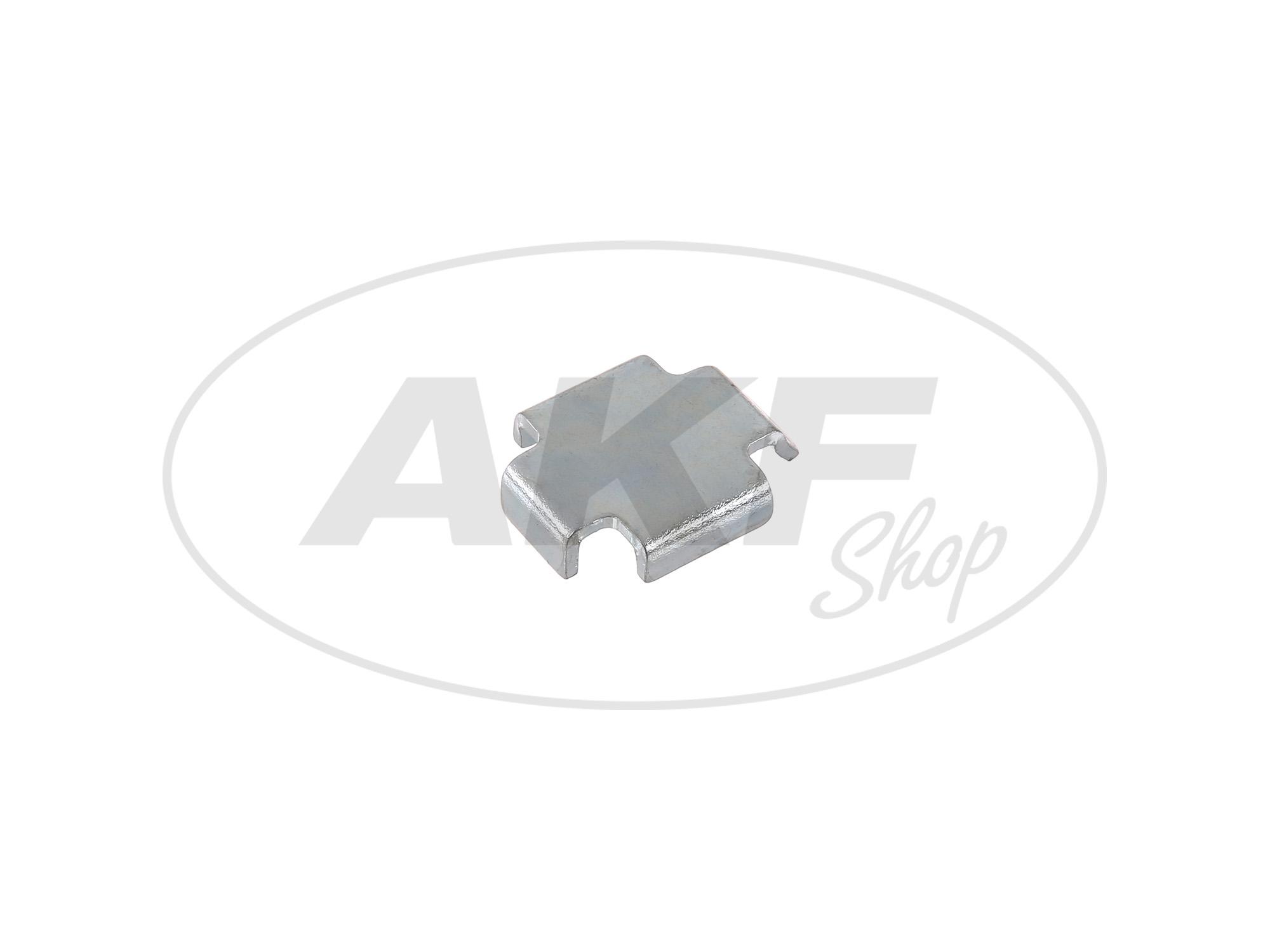 Zoom Ansicht Bremsbackenzwischenlage 1,5 mm Simson S51, S50, SR50, Schwalbe KR51, SR4
