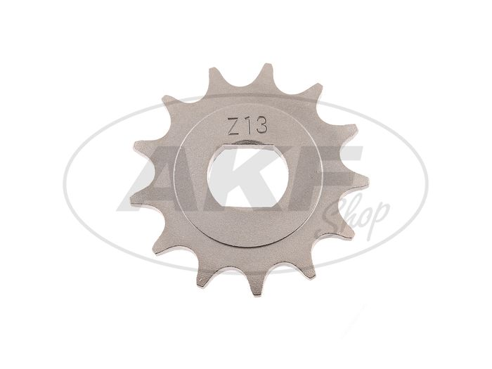 Pinion, small sprocket, 13 tooth - for Simson S51, S70, S53, S83, KR51 / 2 swallow, SR50, SR80 - Image #1