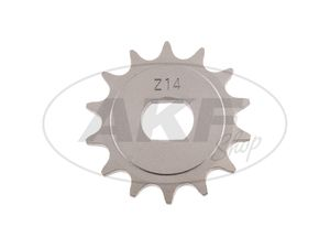 Item Image Pinion, small sprocket, 14 tooth - for Simson S51, S70, S53, S83, KR51 / 2 swallow, SR50, SR80