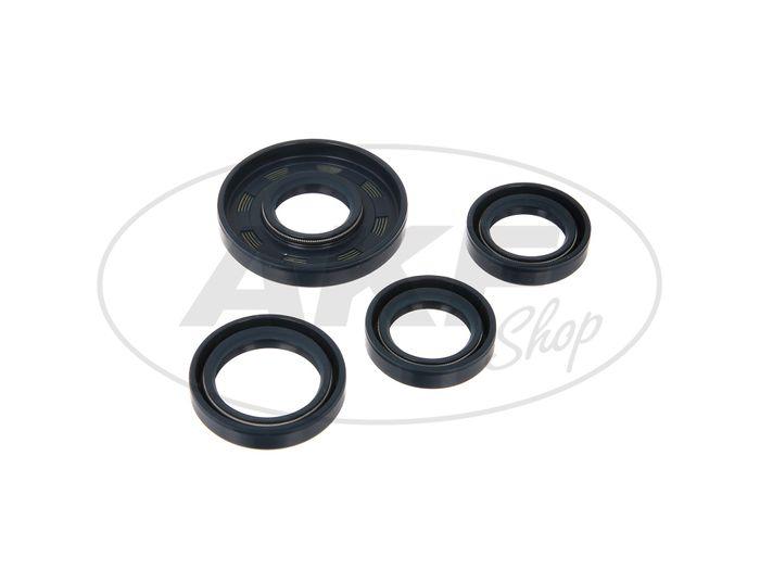Set: shaft seal rings motor, blue, double lip - for MZ ETZ125, ETZ150 - Image #1