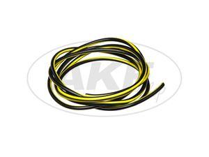 Kabel - Schwarz/Gelb 0,50mm² Fahrzeugleitung - 1m -  Bild 1