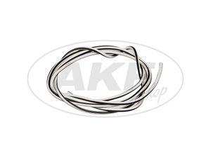 Kabel - Weiß/Schwarz 0,50mm² Fahrzeugleitung - 1m -  Bild 1