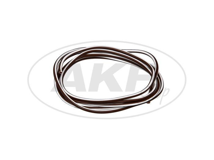 Cable - Brown / White 0.50mm² Vehicle cable - 1m - Image #1