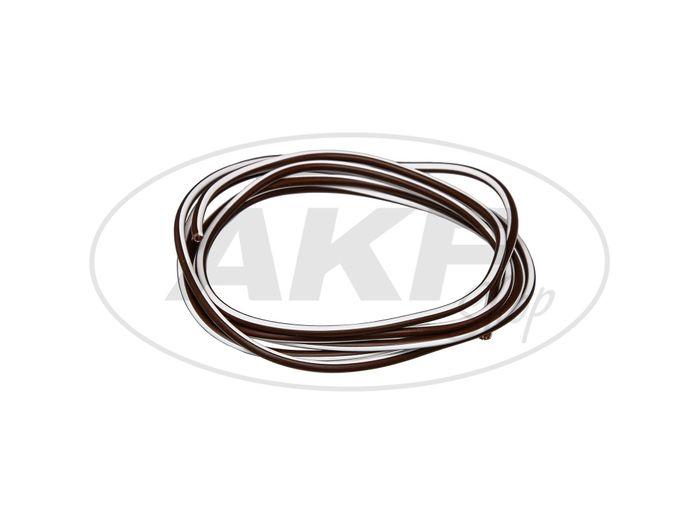 Kabel - Braun/Weiß 0,50mm² Fahrzeugleitung - 1m - Bild #1