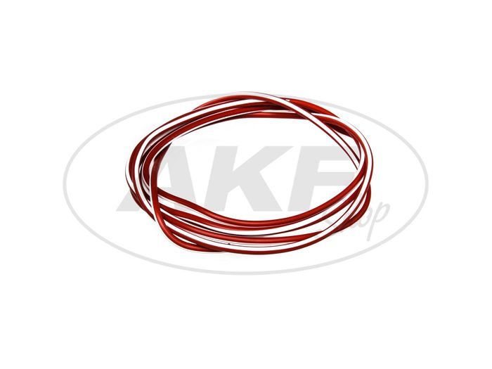 Cable - Red / White 0.50mm² Vehicle cable - 1m - Image #1