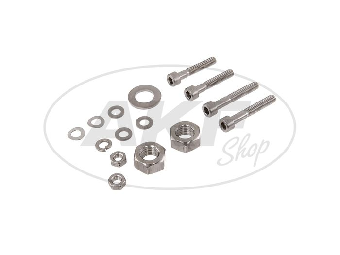 Set: cylinder head screws, hexagon socket in stainless steel for drum brake, wheel hubs S50, S51, S53, S70, S83 - Image #1