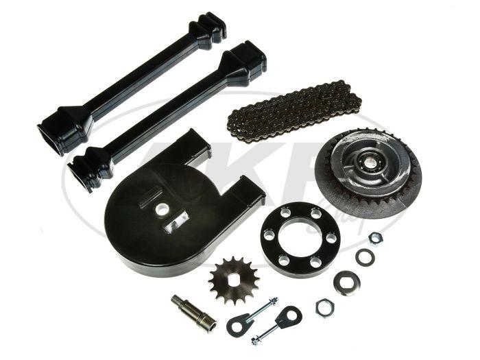 Large chain wheel drive set (chain set) - for Simson SR50, SR80 - Image #1