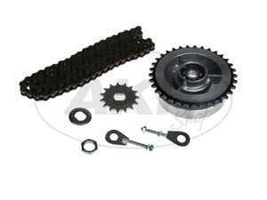 Item Image Small sprocket drive set (chain set) - for Simson S51, S70, S53, S83