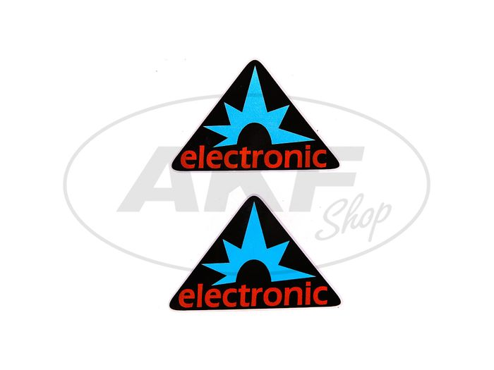 "Sticker - ""electronic"" triangle, 2 pieces - Image #1"