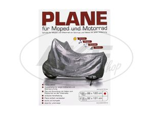 Item Image Tarpaulin with fixing drawstring for the moped