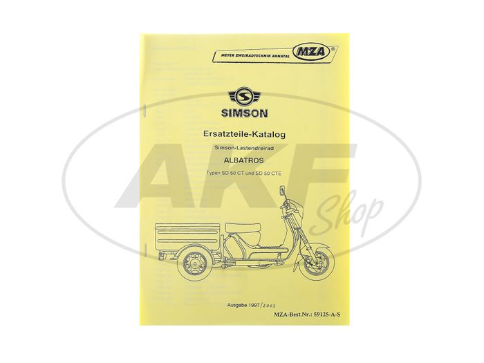 Spare Parts Catalog CT / CTE AUSG. 1993/2003 Simson Albatros SD50 rear wheel - Image #1