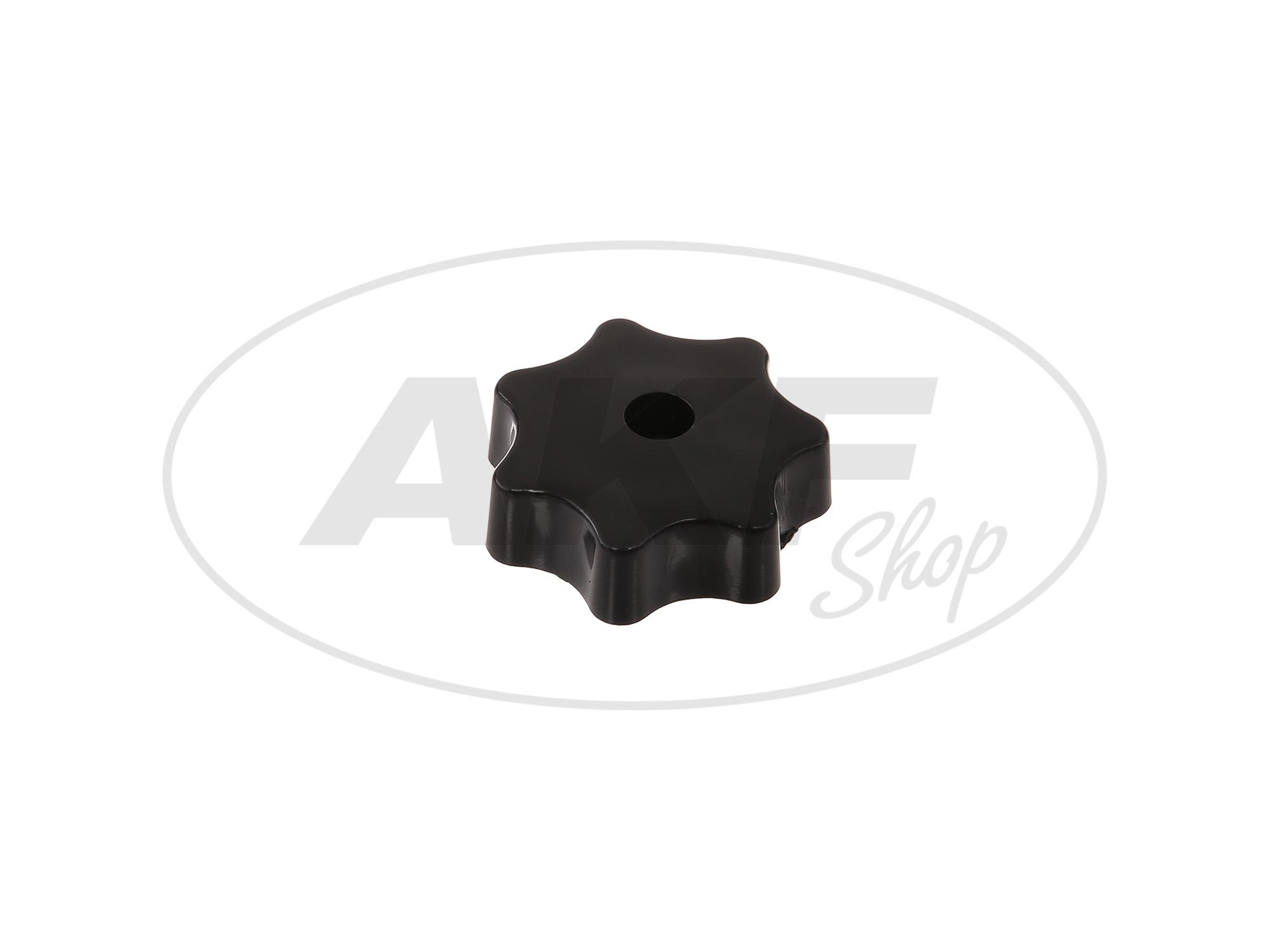 Zoom Ansicht Sterngriffmutter M6 in schwarz für (Motorabdeckung & Haube) Simson Schwalbe KR51, Star, Sperber, Habicht SR4, SR50, SR80