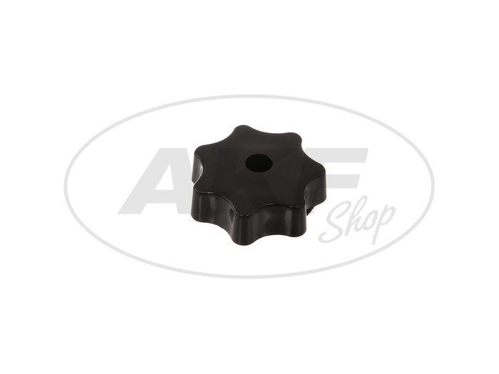 Sterngriffmutter M6 in schwarz für (Motorabdeckung & Haube) Simson Schwalbe KR51, Star, Sperber, Habicht SR4, SR50, SR80 - Bild #1