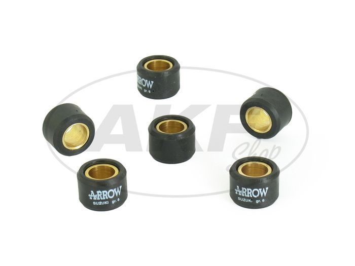 Set: control rollers 6 pieces 25 km / h SRA 25/50 Star - Image #1