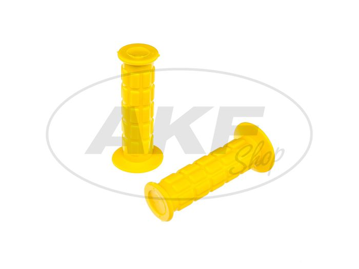 Set: handlebar grips for throttle grip and grip, waffle pattern, light yellow - for Simson S50, S51, S70, SR50, SR80 - Image #1