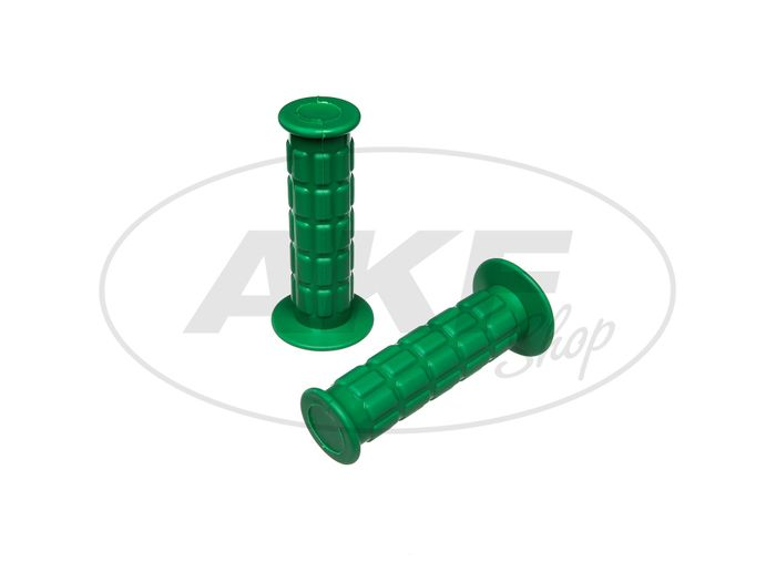 Set of handlebar grips for throttle grip and hard grip, waffle pattern, green - Simson S50, S51, S70, SR50, SR80 - Image #1