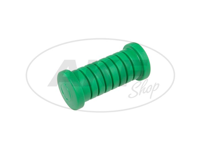 Footrest rubber, cross-strapped in green Simson S51, S50, Schwalbe KR51, SR4 - Image #1