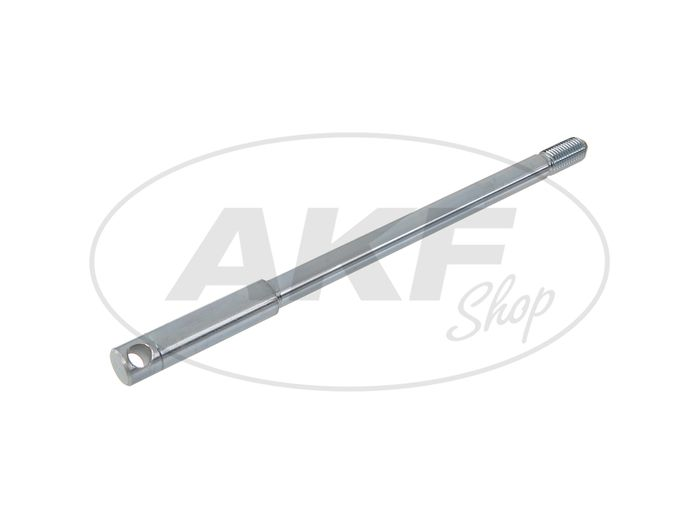 Front axle, galvanized - for drum brake and Nabentacho drive - Simson S50, S51, S70, S53, S83 - Image #1