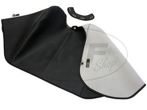 Artikelbild Knieschutzdecke alte Ausführung + Halteband schwarz, gefüttert - für Simson KR51/1 Schwalbe, KR51/2 Schwalbe