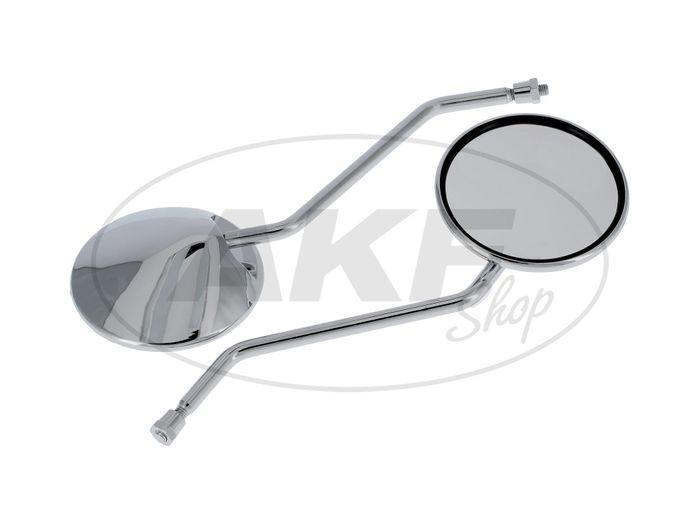 Set: 2 Spiegel, Ø110mm, komplett in Chrom - für Simson S50, S51, S70, KR51/2 Schwalbe, SR50, SR80, u.a. - Bild #1