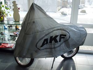 "Item Image Cover ""AKF"" for moped - gray"