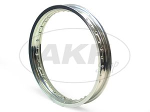 Item Image Rim - 1,85 x 18 polished aluminum (rear wheel) suitable for MZ ES125, ES150, TS125, TS150