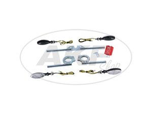 Item Image SET: 4 direction indicator hexagonal complete for S51 and ETZ incl. braces 12V