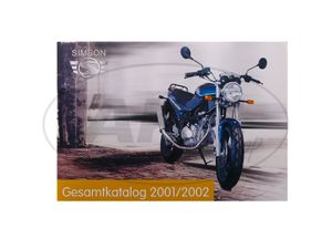 Item Image Old vehicle catalog SIMSON - color print (by SIMSON-Motorrad GmbH 2001/2002 - sale of remaining stock)