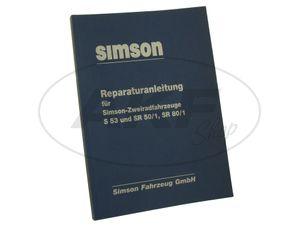 Item Image Book - Repair manual Simson S53, SR50 / 1, SR80 / 1 Edition 1989 (wiring diagram integrated)
