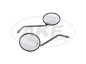 Item Image Set: 2 mirrors, Ø100mm - for Simson S50, S51, S70, KR51 / 2 Schwalbe, SR50, SR80, etc.