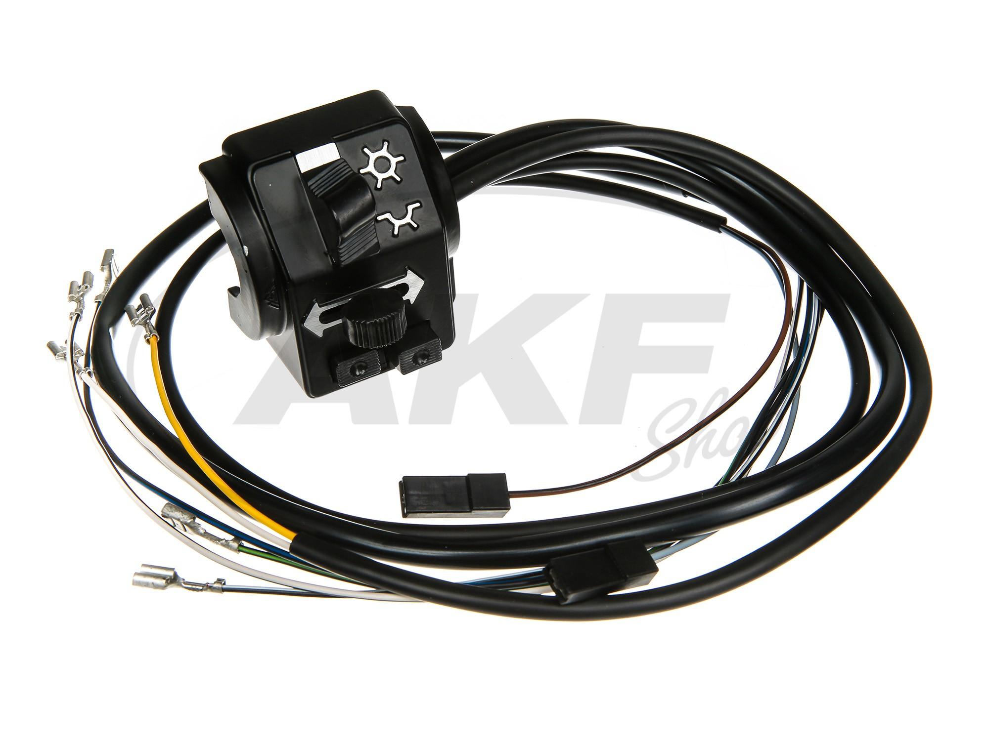 Schalterkombination 8626.19/1 mit Kabel und Lichthupe, 6 + 12V ...