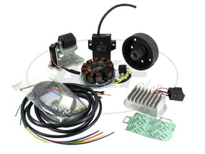 Item Image Alternator and ignition system suitable for AWO conversion 6 to 12V