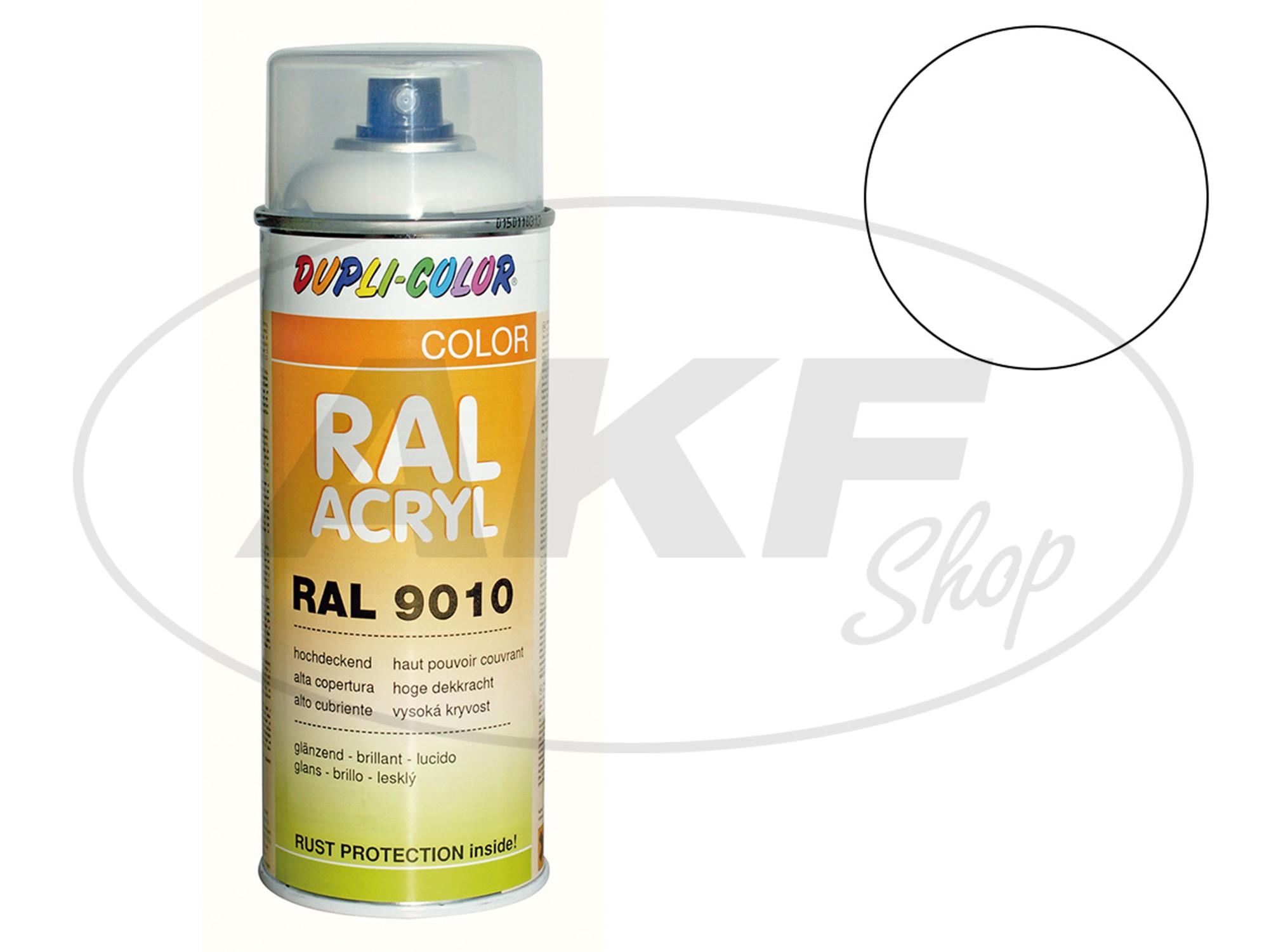 dupli color acryl spray ral 9003 signalwei gl nzend 400 ml. Black Bedroom Furniture Sets. Home Design Ideas