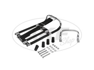 Item Image Set: luggage carrier with Aufbockgriff + small parts + black spacers - Simson KR51 Schwalbe