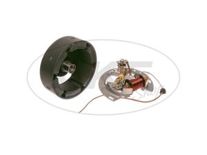 Item Image SLPZ 8302.1 set rotor (rotor 8306.10-010 + stator) - 6V intermittent ignition - without light coils - set of lawn mowers BM40